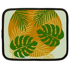 Leaf Leaves Nature Green Autumn Netbook Case (large)