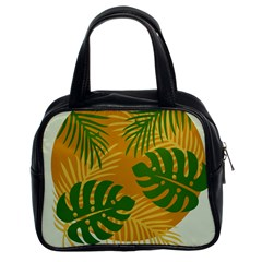 Leaf Leaves Nature Green Autumn Classic Handbag (two Sides)