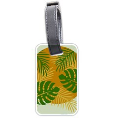 Leaf Leaves Nature Green Autumn Luggage Tags (two Sides) by Samandel