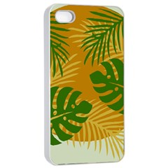 Leaf Leaves Nature Green Autumn Apple Iphone 4/4s Seamless Case (white)