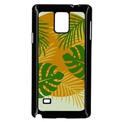 Leaf Leaves Nature Green Autumn Samsung Galaxy Note 4 Case (black)