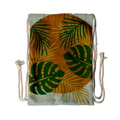 Leaf Leaves Nature Green Autumn Drawstring Bag (small)