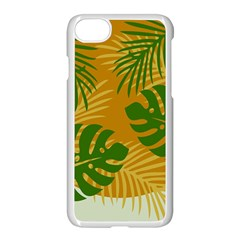 Leaf Leaves Nature Green Autumn Apple Iphone 8 Seamless Case (white)