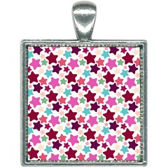 Stars Pattern Square Necklace by Samandel