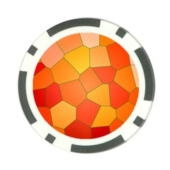Background Pattern Of Orange Mosaic Poker Chip Card Guard by Samandel