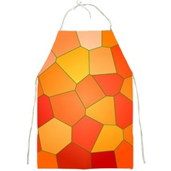 Background Pattern Of Orange Mosaic Full Print Aprons by Samandel