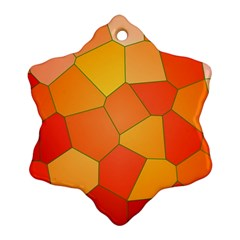 Background Pattern Of Orange Mosaic Snowflake Ornament (two Sides)