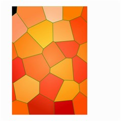 Background Pattern Of Orange Mosaic Small Garden Flag (two Sides) by Samandel
