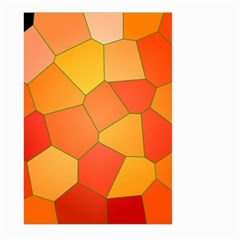 Background Pattern Of Orange Mosaic Large Garden Flag (two Sides) by Samandel