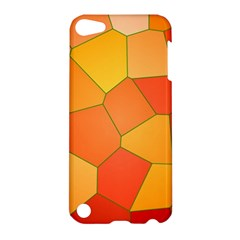 Background Pattern Of Orange Mosaic Apple Ipod Touch 5 Hardshell Case