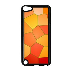 Background Pattern Of Orange Mosaic Apple Ipod Touch 5 Case (black) by Samandel