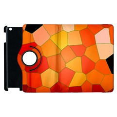 Background Pattern Of Orange Mosaic Apple Ipad 3/4 Flip 360 Case