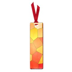 Background Pattern Of Orange Mosaic Small Book Marks