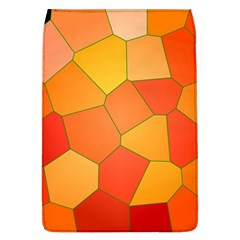 Background Pattern Of Orange Mosaic Removable Flap Cover (l) by Samandel