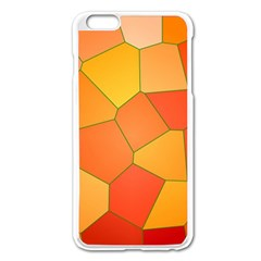 Background Pattern Of Orange Mosaic Apple Iphone 6 Plus/6s Plus Enamel White Case