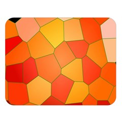 Background Pattern Of Orange Mosaic Double Sided Flano Blanket (large)