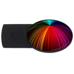 Background Color Colorful Rings Usb Flash Drive Oval (4 Gb)