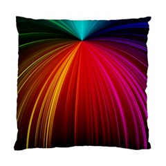 Background Color Colorful Rings Standard Cushion Case (one Side)