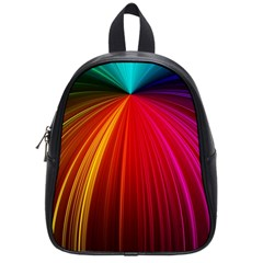 Background Color Colorful Rings School Bag (small)