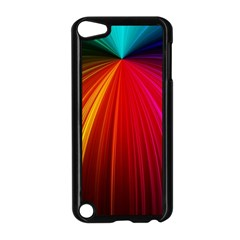 Background Color Colorful Rings Apple Ipod Touch 5 Case (black)