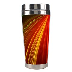 Background Color Colorful Rings Stainless Steel Travel Tumblers by Samandel