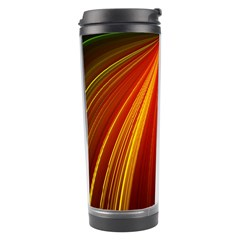 Background Color Colorful Rings Travel Tumbler
