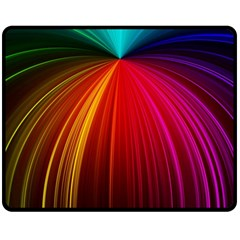 Background Color Colorful Rings Double Sided Fleece Blanket (medium)