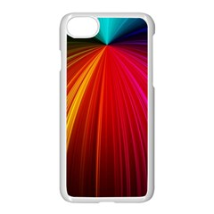 Background Color Colorful Rings Apple Iphone 8 Seamless Case (white)