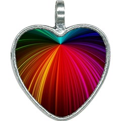 Background Color Colorful Rings Heart Necklace