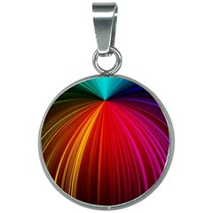 Background Color Colorful Rings 20mm Round Necklace