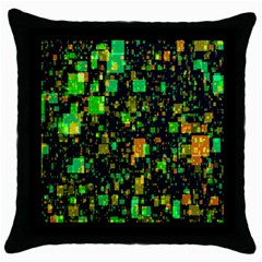 Squares And Rectangles Background Throw Pillow Case (black)