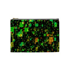 Squares And Rectangles Background Cosmetic Bag (medium) by Samandel
