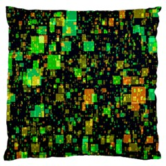Squares And Rectangles Background Large Cushion Case (one Side) by Samandel