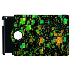 Squares And Rectangles Background Apple Ipad 2 Flip 360 Case by Samandel