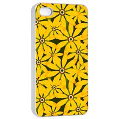 Texture Flowers Nature Background Apple Iphone 4/4s Seamless Case (white)