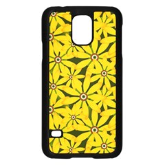 Texture Flowers Nature Background Samsung Galaxy S5 Case (black)
