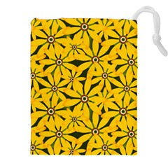 Texture Flowers Nature Background Drawstring Pouch (xxl)