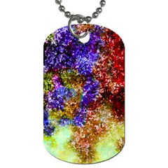 Splashes Of Color Background Dog Tag (two Sides)
