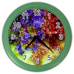 Splashes Of Color Background Color Wall Clock