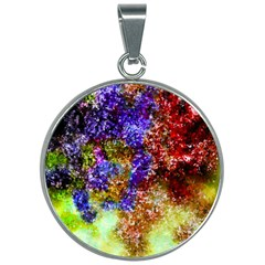 Splashes Of Color Background 30mm Round Necklace