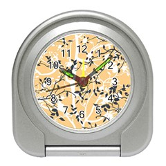 Floral Pattern Background Travel Alarm Clock