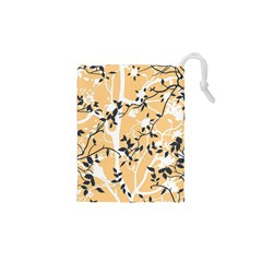 Floral Pattern Background Drawstring Pouch (xs)