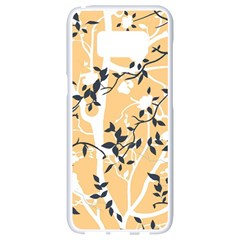 Floral Pattern Background Samsung Galaxy S8 White Seamless Case