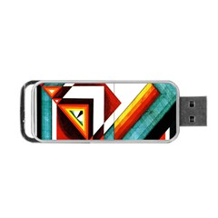Diamond Acrylic Paint Pattern Portable Usb Flash (one Side)