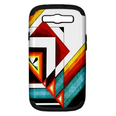 Diamond Acrylic Paint Pattern Samsung Galaxy S Iii Hardshell Case (pc+silicone) by Samandel