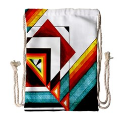 Diamond Acrylic Paint Pattern Drawstring Bag (large)