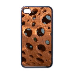 Texture Pattern Wallpaper Background Pattern Holes Apple Iphone 4 Case (black)