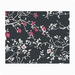 Black And White Floral Pattern Background Small Glasses Cloth (2 Side)