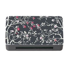 Black And White Floral Pattern Background Memory Card Reader With Cf