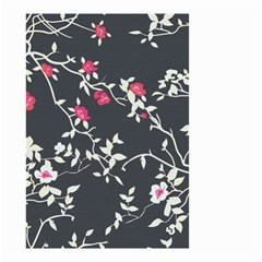 Black And White Floral Pattern Background Small Garden Flag (two Sides) by Samandel